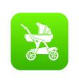 baby carriage designer icon green vector image vector image