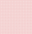 Background of seamless pink geometric pattern vector image