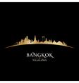 Bangkok Thailand skyline Detailed silhouette vector image vector image