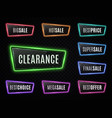 big sale best price clearance neon signs vector image vector image