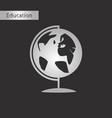 black and white style icon globe vector image vector image