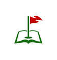 book golf logo icon design vector image
