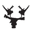 Breakdance silhouette vector image