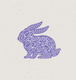 bunny brunch lettering vector image vector image