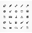 Car parts icons set vector image
