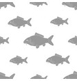 carp of different sizes seamless black and white vector image vector image