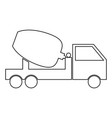 cement mixers truck icon vector image