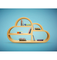 cloud shelf with books vector image vector image