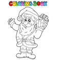 coloring book santa claus topic 1 vector image vector image