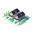 comfortable private houses vector image vector image