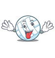 crazy volley ball character cartoon vector image vector image