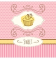 cupcake hand drawn card vector image