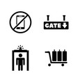 customs clearance simple related icons vector image vector image