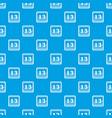 date calendar pattern seamless blue vector image vector image