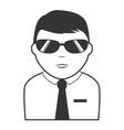 detective agent man male icon vector image