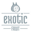 exotic fruit logo simple gray style vector image vector image