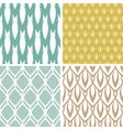 Four abstract ornamental shapes seamless patterns vector image vector image
