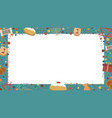 frame with hanukkah holiday flat design icons vector image vector image