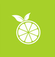 fresh lemon logo design template and support icon vector image