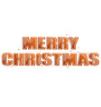 gingerbread inscription merry christmas vector image