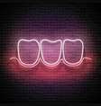glow dentition with white teeth and healthy gum vector image