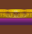 gold border in ancient greek style vector image