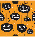 halloween seamless pattern 8 vector image