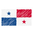 hand drawn national flag of panama isolated on a vector image vector image