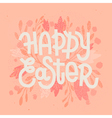 happy easter muted pastel pink greeting card vector image vector image