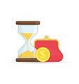 hourglass and money vector image vector image