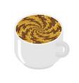 hypnot coffee mug hypnosis aroma swirl vector image vector image