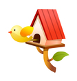 icon bird house vector image vector image