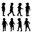 kids silhouettes collection vector image