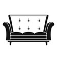 leather sofa icon simple style vector image vector image