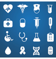 medical icons white vector image
