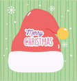 merry christmas celebration hat santa vector image vector image