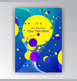 modern futured vertical page template vector image vector image