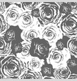 monochrome roses seamless vector image vector image