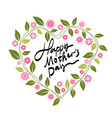 Mothers Day-themed wreath font design vector image vector image