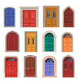 old door icon or vintage house entrance vector image
