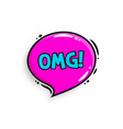 omg concept comic speech bubble vector image