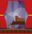 piano on stage musical vector image