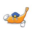 police tempura character cartoon style vector image vector image