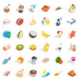 rest icons set isometric style vector image vector image