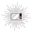 retro tv poster isolated icon design vector image vector image