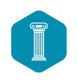 roman column icon simple style vector image vector image