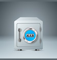 safe lock icon business infographic vector image vector image