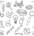 seamless sketch science pattern vector image vector image