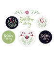 set additional design elements and badges vector image vector image