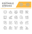 set line icons of cleaning vector image vector image